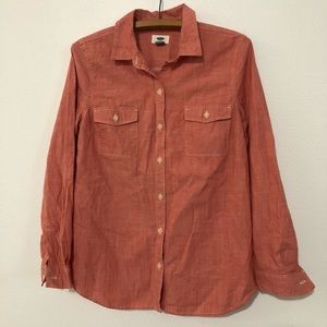 NEW Old Navy Long Sleeve Button Down Shirt